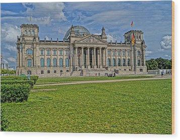 Reichstag Berlin Hdr Wood Print by Alexander Drum