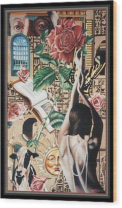 Reign Of Roses Wood Print by Nancy M Garrett