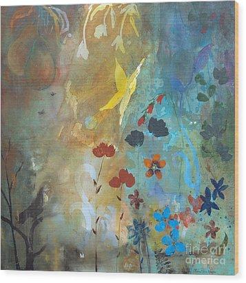 Rejuvenate Wood Print by Robin Maria Pedrero