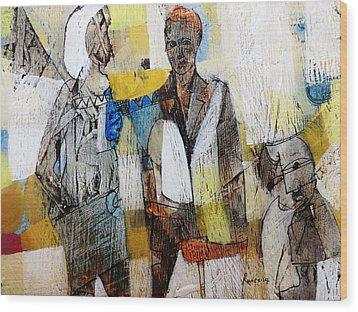 Relating Or Not Wood Print by Ronex Ahimbisibwe