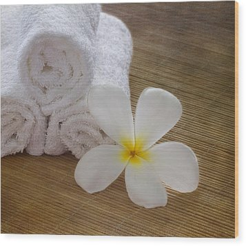 Relax At The Spa Wood Print