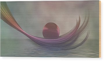Wood Print featuring the digital art Relax by Gabiw Art