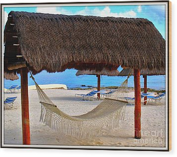 Relaxation Defined Wood Print by Patti Whitten