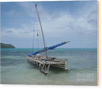 Relaxing After Sail Trip Wood Print by Jola Martysz