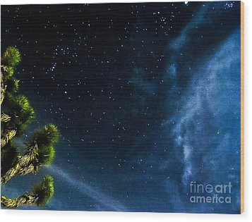 Releasing The Stars Wood Print by Angela J Wright