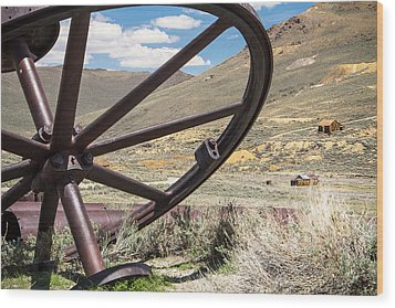 Wood Print featuring the photograph Relics Of Bodie by Steven Bateson