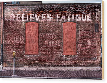 Relieves Fatigue  Wood Print by Robert  FERD Frank