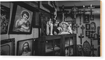 Religion And The Curio Shop Wood Print by Bob Orsillo