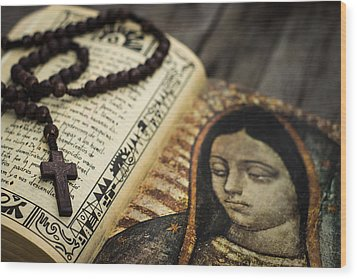 Religious Concept Wood Print by Aged Pixel