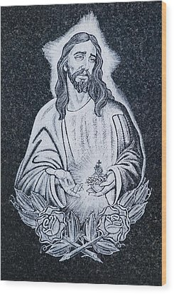 Religious Icons In Spanish Cemetery Wood Print by Michael Thornton