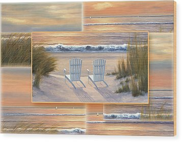 Relocated - Paradise Sunset Wood Print