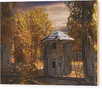 Remains Wood Print by Jack Zulli