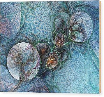 Remains Of A Mosaic Wood Print by Amanda Moore