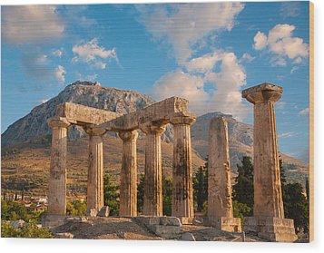 Remains Of Apollo Temple Wood Print by Gurgen Bakhshetsyan