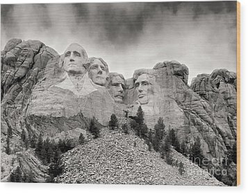 Remarkable Rushmore Wood Print