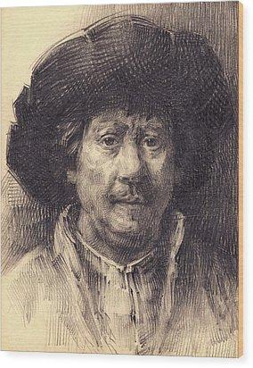 Rembrandt Portrait2 Wood Print