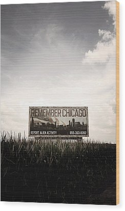Remember Chicago  Wood Print by Trish Mistric
