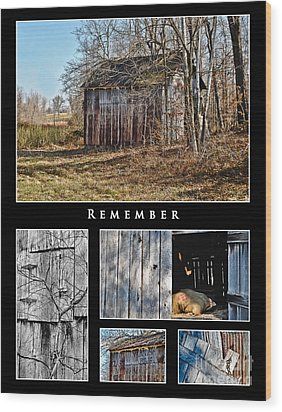 Remember Wood Print