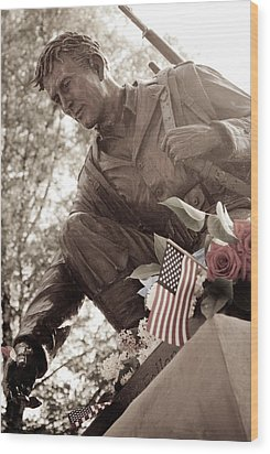 Wood Print featuring the photograph Remember The Fallen by Chris McKenna