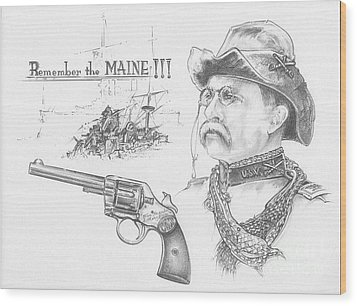 Remember The Maine Wood Print by Scott and Dixie Wiley