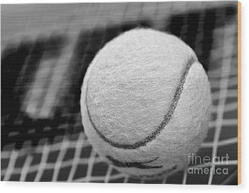 Remember The White Tennis Ball Wood Print by Kaye Menner