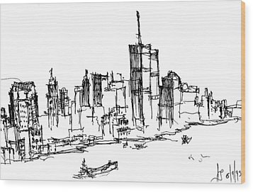 Remember World Trade Center Wood Print by Jason Nicholas