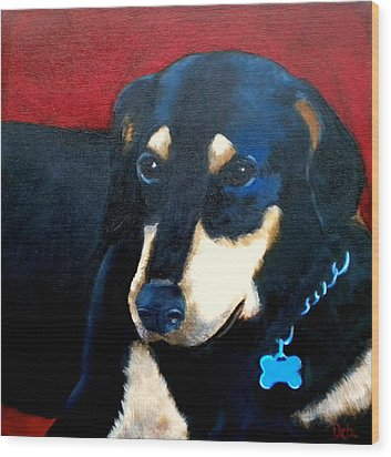 Remembering Doby Wood Print by Debi Starr