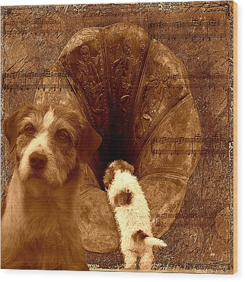 Remembering His Masters Voice Wood Print by Veronica Ventress