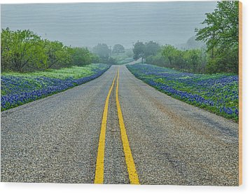 Remembering Spring In Texas Wood Print by Jeffrey W Spencer