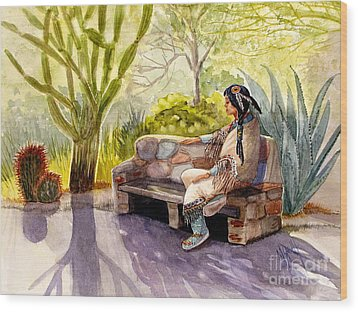 Remembering The Old Ones Wood Print by Marilyn Smith