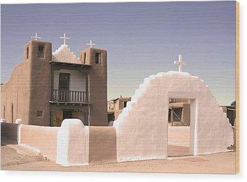Remembering The Pueblo Wood Print by Heidi Hermes