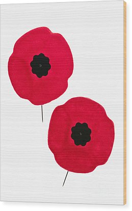 Remembrance Day Poppies Wood Print by Elena Elisseeva
