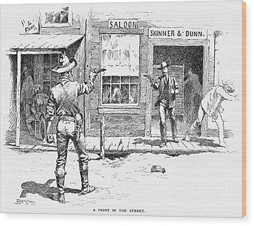 Remington: Duel Wood Print by Granger