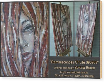Wood Print featuring the painting Reminiscences Of Life 090909 by Selena Boron