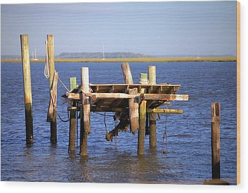 Wood Print featuring the photograph Remnants by Gordon Elwell