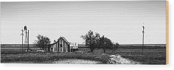Remnants Of The Dust Bowl Wood Print
