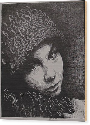 Rena Wood Print by Denis Gloudeman