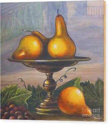 Renaissance Pears Wood Print