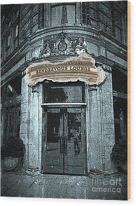 Wood Print featuring the photograph Rendezvous Lounge - Lancaster Pa. by Joseph J Stevens