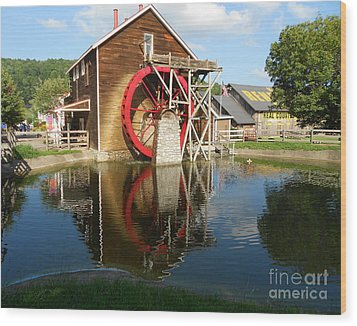 Wood Print featuring the photograph Renfro Valley  Mill by Mary Carol Story