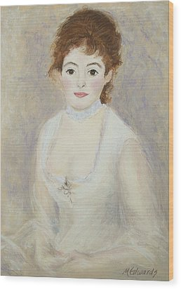 Renoir's Lady Wood Print by Marna Edwards Flavell