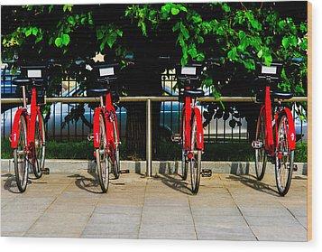 Rent-a-bike - Featured 3 Wood Print by Alexander Senin