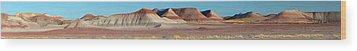 Repainted Desert Wood Print by Gregory Scott