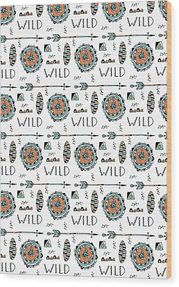 Repeat Print - Wild Wood Print by Susan Claire