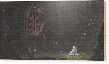 Repentance Wood Print by Hiroshi Shih