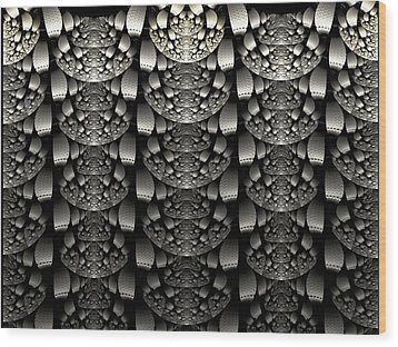 Repetition Wood Print by Lea Wiggins
