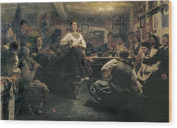 Repin, Ilya Yefimovich 1844-1930. The Wood Print by Everett