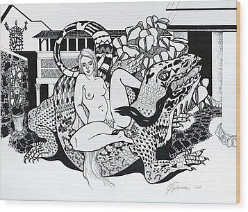 Reptile Ride Wood Print by Yelena Tylkina