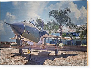 Wood Print featuring the photograph Republic F-105 Thunder Chief by Steve Benefiel