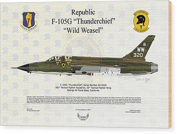 Republic F-105g Thunderchief 561tfs Wood Print by Arthur Eggers